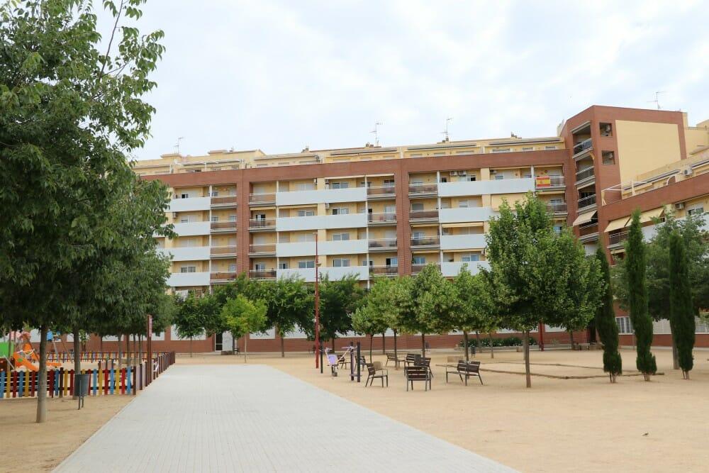 Plaza Lymintong en Almansa, su nombre da honor a una de las ciudades hermanas de Almansa