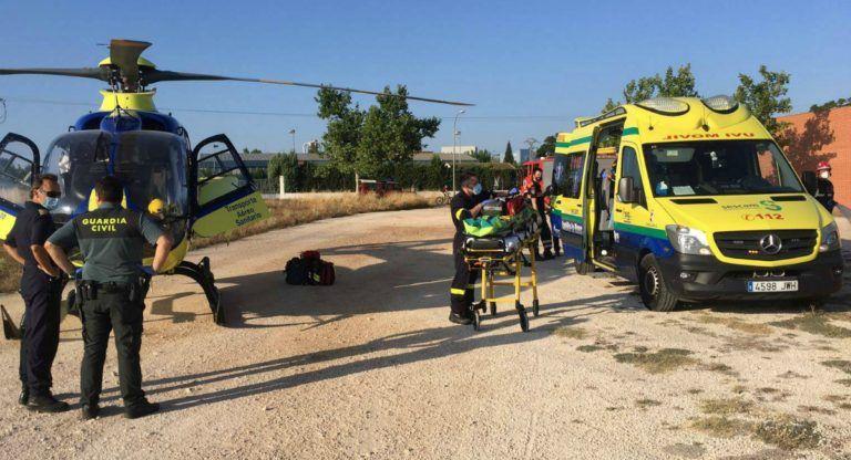 Herido grave por accidente en una fábrica Almansa | Almansa Emergencias