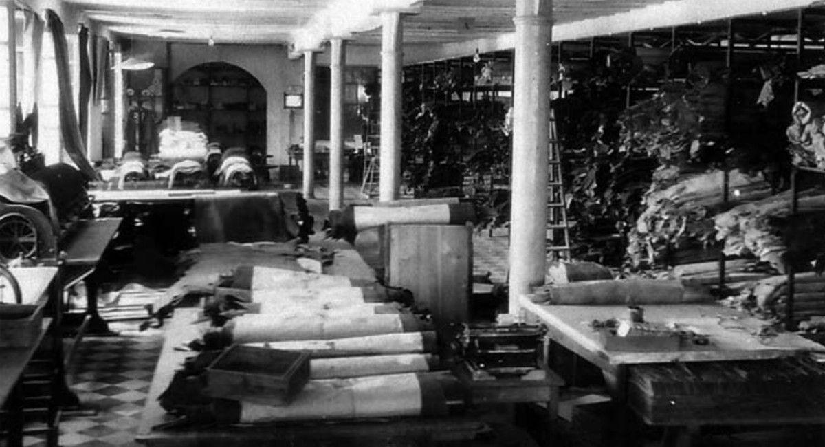 Fábrica de los Coloma en el 1933 Foto de Viriato Coloma