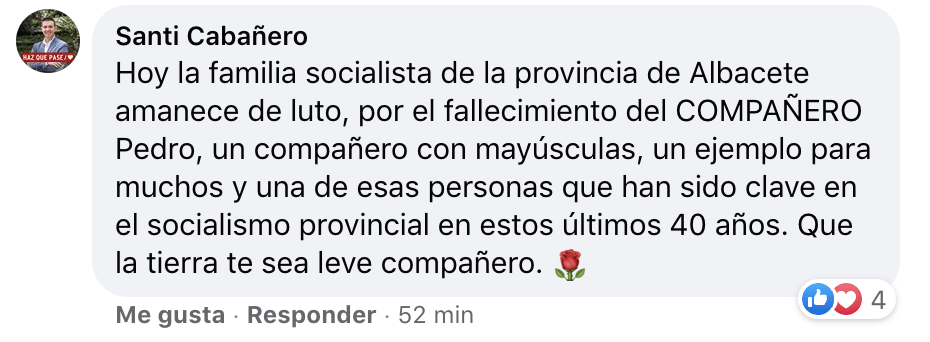 Mensaje de Santi Cabañero, presidente de la Diputación de Albacete