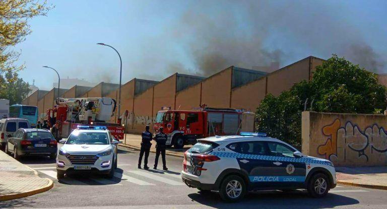 Incendio Nave Sancho Almansa Almansa Emergencias