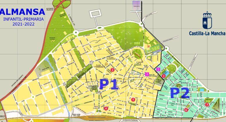 Zonas colegios Almansa