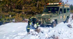 La Unidad Militar de Emergencias se desplaza a Albacete por las nieves