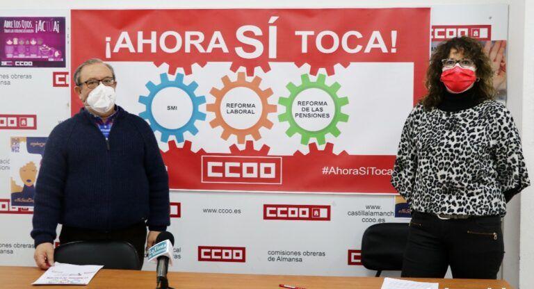 Manifestación CCOO Almansa