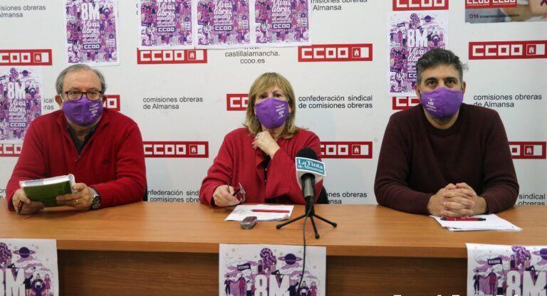 CCOO Manifestación 8-M Almansa
