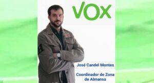 José Candel, nombrado coordinador de Vox en la zona de Almansa