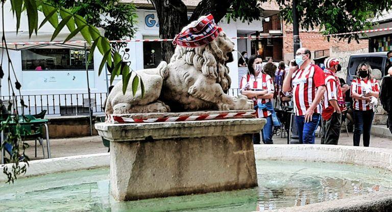La Fuente del León de Almansa tras el triundo del Atlético de Madrid