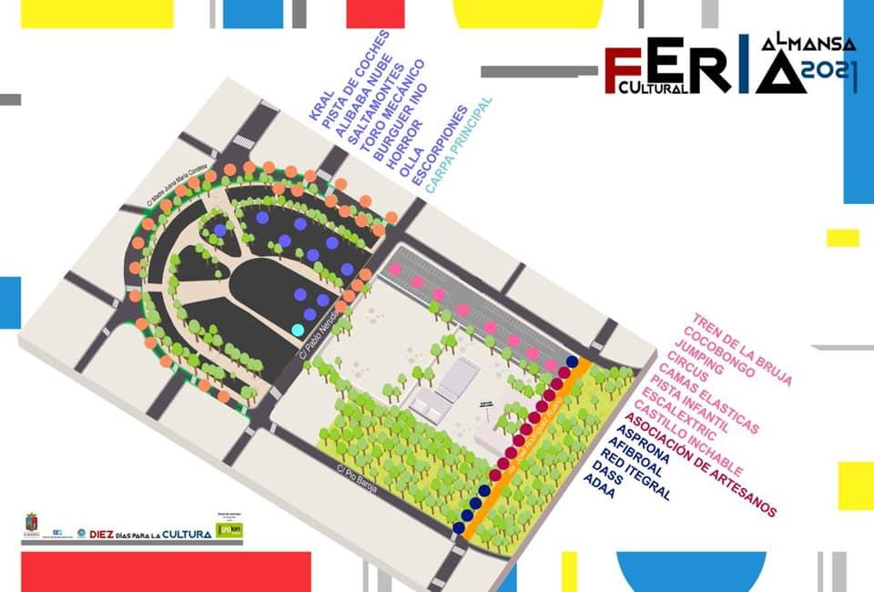 Plano de la Feria de Almansa 2021