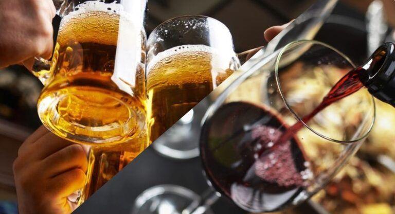 Cerveza o vino en Almansa