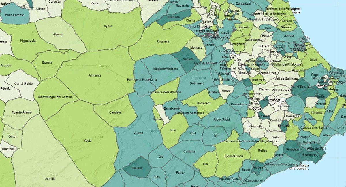 Mapa de los ERTES Almansa