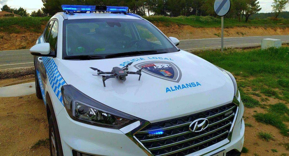 dron policia covid almansa