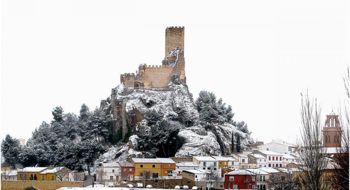 Imágenes de la nieve, borrasca Filomena, en Almansa | Paulino Ruano Díaz